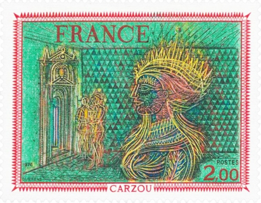 PARAJANOV.com - French post stamp with Carzou's painting