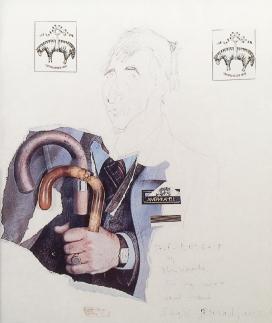 PARAJANOV.com - Sergei Paradjanov's collage of John Updike's self-portrait