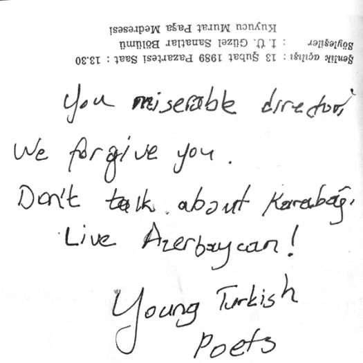 Turks threatened Paradjanov at Istanbul Film Festival:
