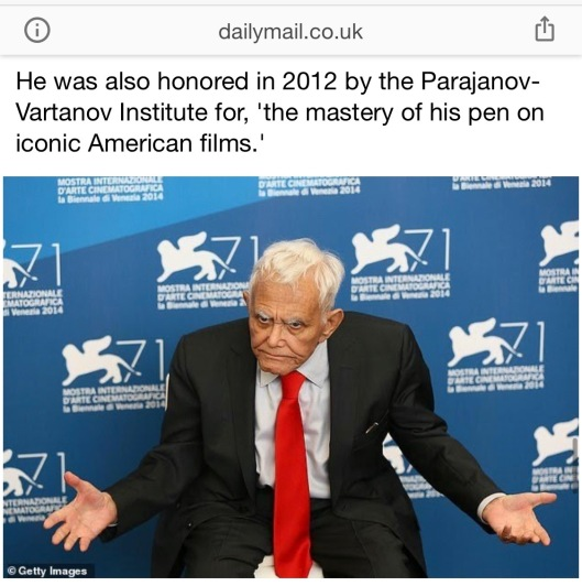 Daily Mail_Mardik Martin_Parajanov-Vartanov Institute Award