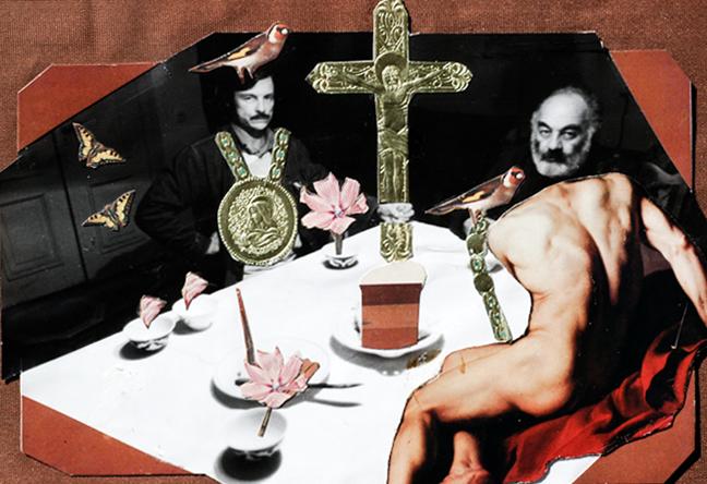 Parajanov's collage with Tarkovsky in Vartanov's The Last Spring